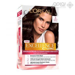 کیت رنگ موی لورال پاریس مدل Excellence شماره 3