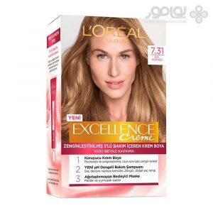 کیت رنگ موی لورال پاریس مدل Excellence شماره 7.31