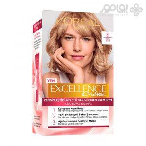 کیت رنگ موی لورال پاریس مدل Excellence شماره 8