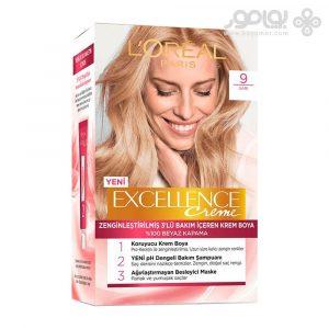 کیت رنگ موی لورال پاریس مدل Excellence شماره 9