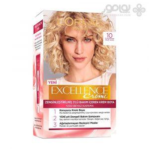 کیت رنگ موی لورال پاریس مدل Excellence شماره 10