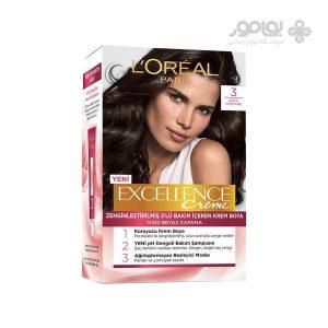 کیت رنگ موی لورآل مدل excellence شماره 3