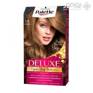 کیت رنگ موی پلت مدل دلوکس شماره 7.0 رنگ بلوند متوسط
