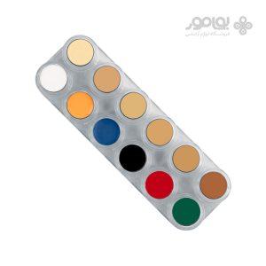 پالت 12 رنگ کرم میکاپ گریماس مدل اسپشیال