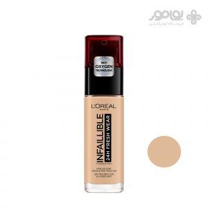 کرم پودر آرایشی لورآل سری اینفائیبل 24 ساعته شماره 125 - L'OREAL INFAILLIBLE 24H
