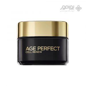 کرم ضد چروک روز ایج پرفکت لورال مدل Age Perfect Cell Renew