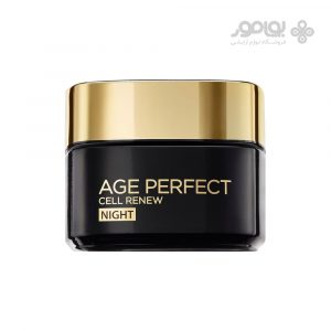 کرم ضد چروک شب ایج پرفکت لورال مدل Age Perfect Cell Renew