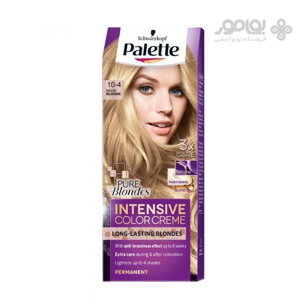 کیت رنگ موی پلت مدل اینتنسیو کالر شماره 4-10 رنگ بلوند بژ