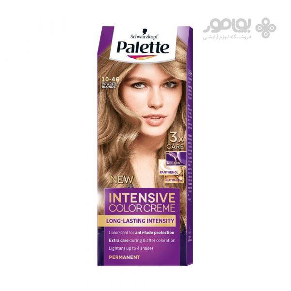 کیت رنگ موی پلت مدل اینتنسیو کالر شماره 46-10 رنگ بلوند پودری
