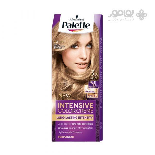 کیت رنگ موی پلت مدل اینتنسیو کالر شماره 46-12 رنگ بلوند بژ دودی