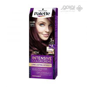 کیت رنگ موی پالت شماره 4-89 رنگ بادمجانی
