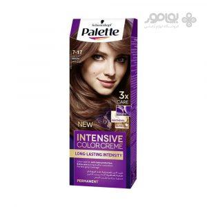 کیت رنگ موی پالت شماره 7.17 رنگ کاراملی