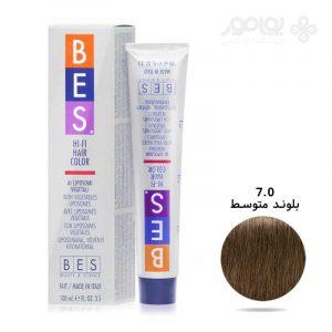 رنگ موی بس بلوند متوسط شماره BES 7.0