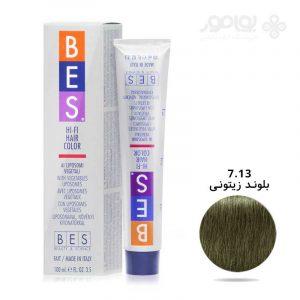 رنگ-موی-بس-شماره-7.13-رنگ-بلوند-زیتونی
