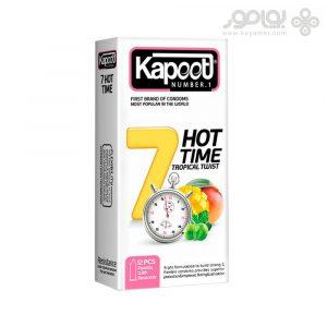 کاندوم کاپوت مدل 7 HOT TIME بسته 12 عددی