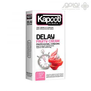 کاندوم کاپوت مدل DELAY FRUITY CREAM بسته 12 عددی