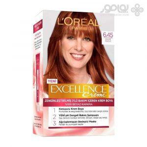 کیت رنگ موی لورال اکسلانس شماره 6.45