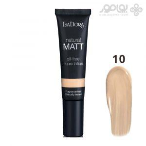 کرم پودر ایزادورا مدل Natural Matt شماره 10