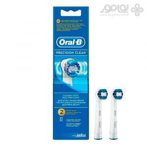 یدک مسواک برقی اورال بی مدل Precision Clean بسته 2 تایی
