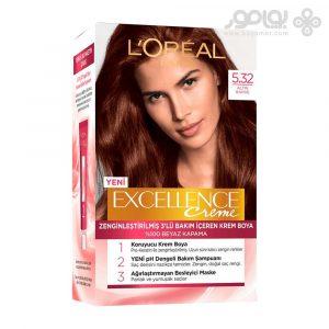کیت رنگ موی لورال پاریس مدل Excellence شماره 5.32
