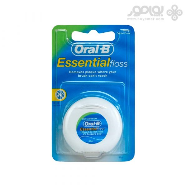 نخ دندان اورال بی مدل Essential Floss حاوی موم نعنا