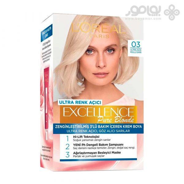 کیت رنگ موی لورال پاریس مدل Excellence شماره 03