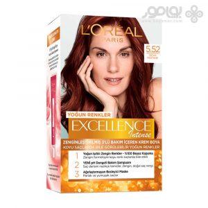 کیت رنگ موی لورال اکسلانس مدل اینتنسیو شماره 5.52