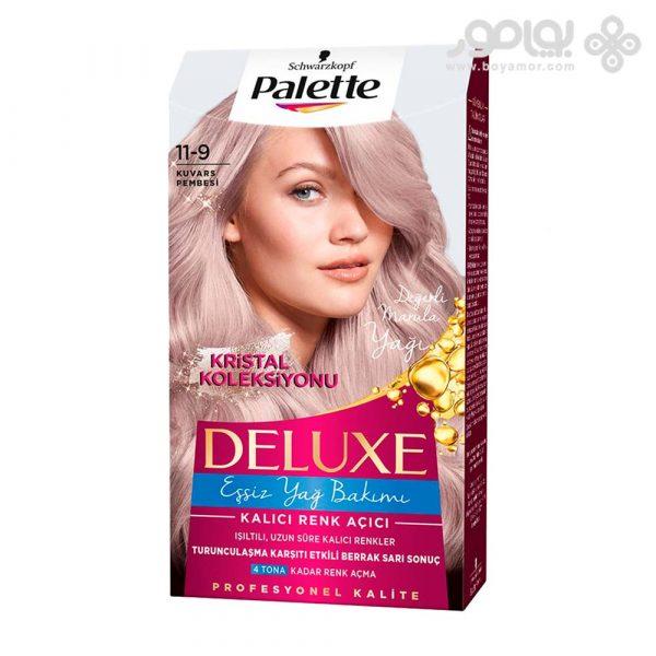کیت رنگ موی پلت مدل دلوکس شماره 11.9 رنگ صورتی کوارتز
