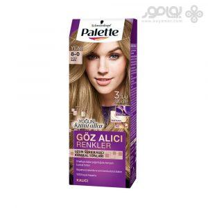کیت رنگ موی پلت مدل اینتنسیو شماره 8.0 رنگ بلوند روشن