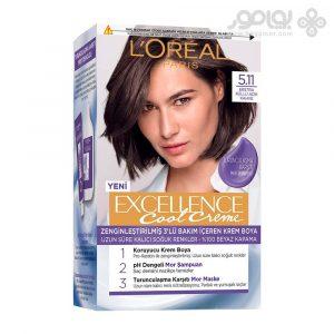 کیت رنگ موی لورال پاریس مدل Excellence شماره 5.11