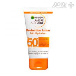 لوسیون ضد آفتاب صورت و بدن گارنیر SPF50 حجم 50 میل