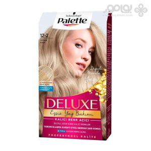 کیت رنگ موی پلت مدل دلوکس شماره 12.2 رنگ بلوند تیتان