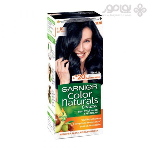 کیت رنگ موی گارنیر شماره 1.10 رنگ مشکی غلیظ